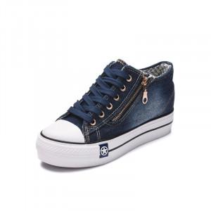 K092 Jeans Platform Sneakers